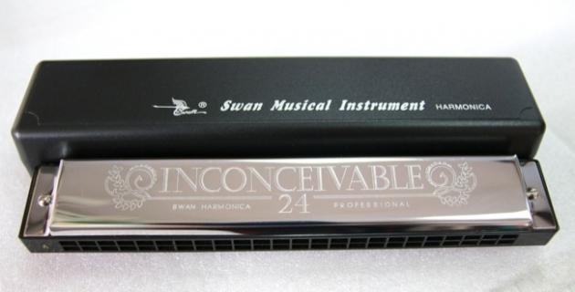 C46A 天鵝 24孔複音口琴附盒-A B C# C D E F G(調) 1