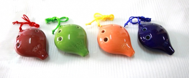 C128,C129,C130A - 陶笛6孔 C調 F調 (高音,中音) 陶瓷 2