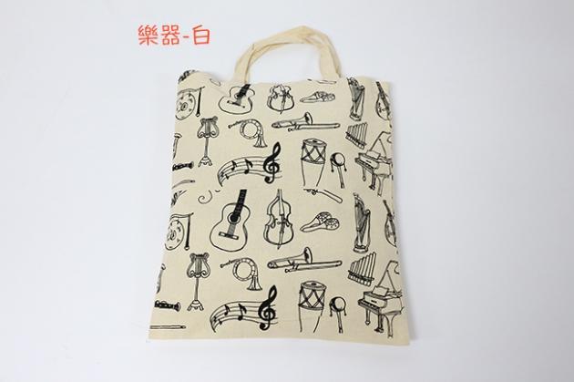 100%純棉手提袋-樂器.音樂樹.小熊 2