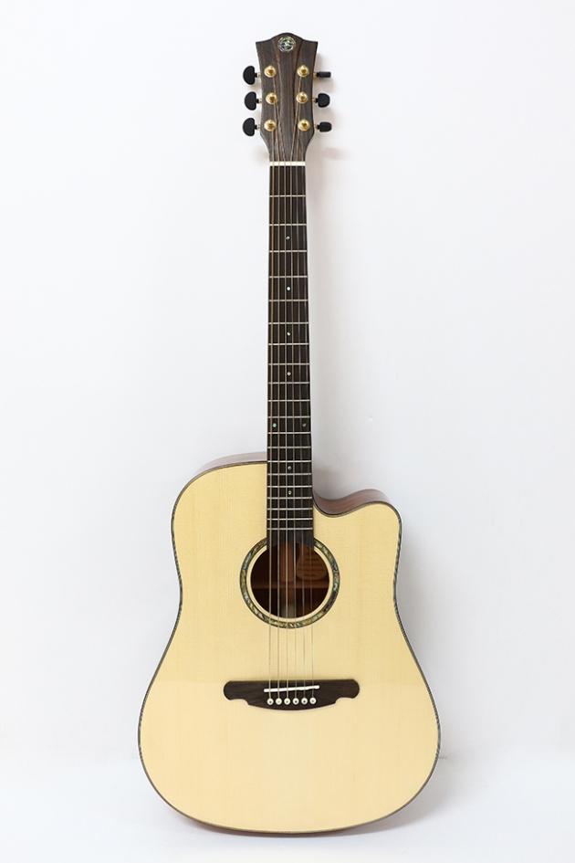 AGAK500 41吋全單板 西提卡雲杉,非洲桃花芯 民謠吉他 1