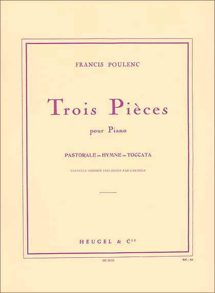 Poulenc:3 Pieces-Piano(Heugle&Cie) 1