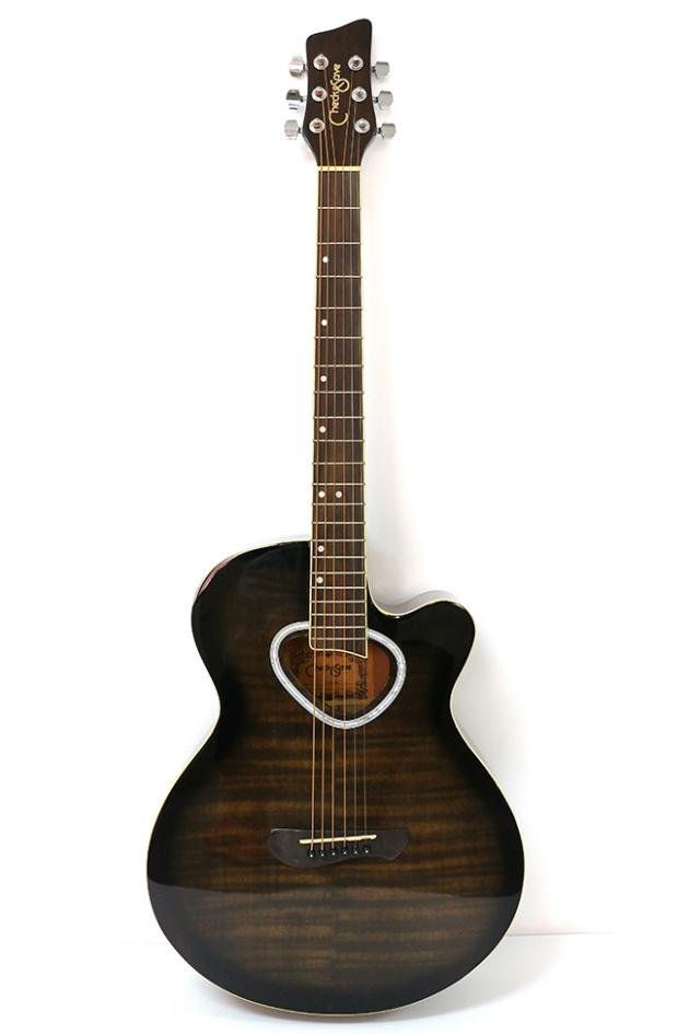 AG41H-39吋民謠吉他缺角(虎紋-紅/藍/黑)(雲杉木-原木色) 定價3600 2