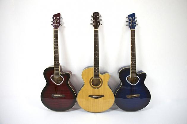 AG41H-39吋民謠吉他缺角(虎紋-紅/藍/黑)(雲杉木-原木色) 定價3600 1