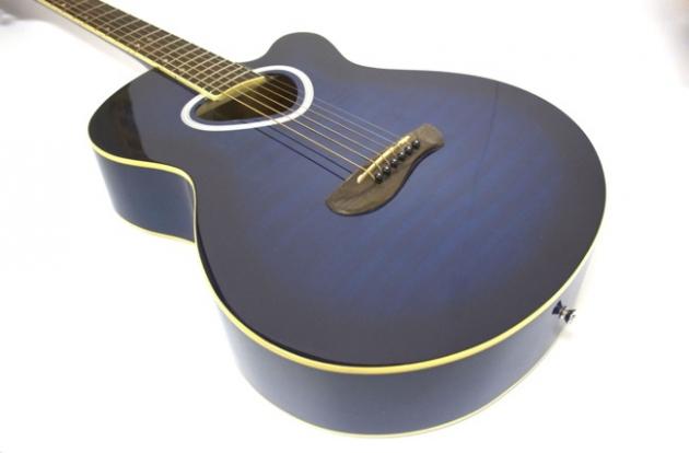 AG41H-39吋民謠吉他缺角(虎紋-紅/藍/黑)(雲杉木-原木色) 定價3600 4