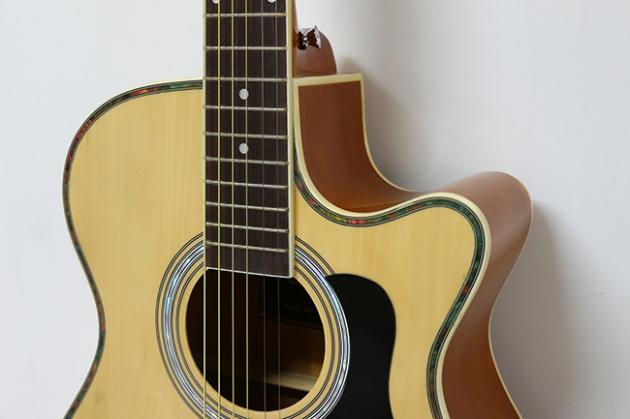 AGX401C-40吋民謠吉他缺角-亮光 (貝殼鑲邊/背中線) 原木色 / 雙色 定價3000 2