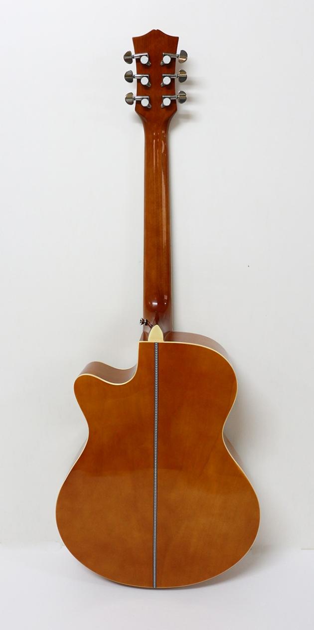 AGX401C-40吋民謠吉他缺角-亮光 (貝殼鑲邊/背中線) 原木色 / 雙色 定價3000 5