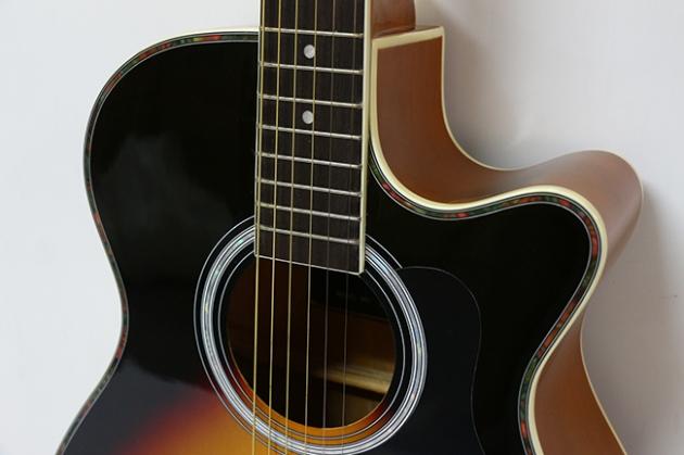 AGX401C-40吋民謠吉他缺角-亮光 (貝殼鑲邊/背中線) 原木色 / 雙色 定價3000 4