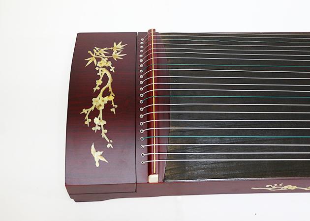 J18B 古箏21弦(附袋)花鳥木貼 3