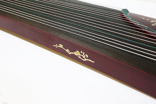 J18B 古箏21弦(附袋)花鳥木貼 4