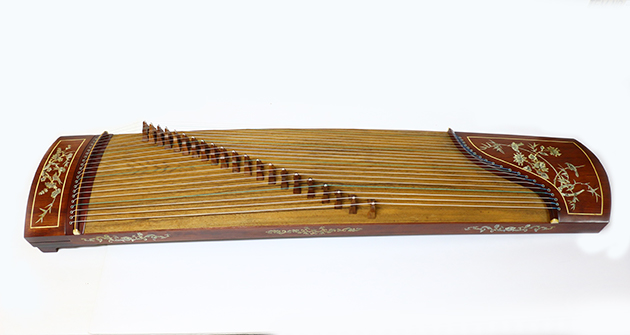 J21A 古箏21弦(附厚袋)貝殼 1