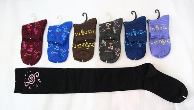 音符短筒襪,音符長筒襪 1