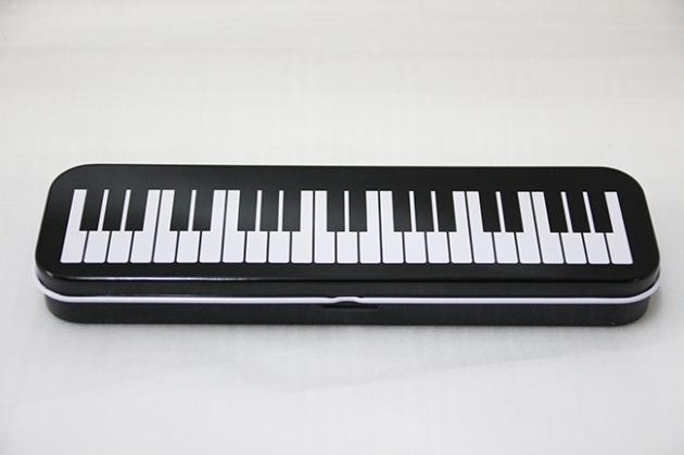 Y726 雙層鐵筆盒(黑.粉) 2