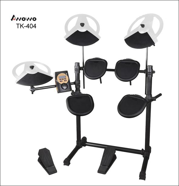 B17 Awowo電子鼓 TK-404 電子鼓 台灣製造(配鼓椅/鼓棒) 1